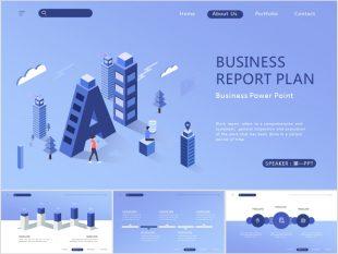 Blue artificial intelligence Powerpoint Template