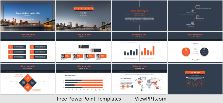 Free Building Business Powerpoint Template
