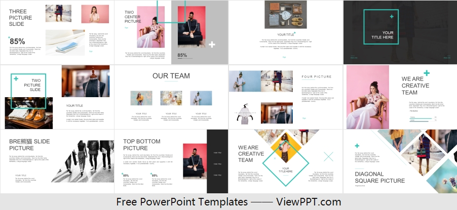 Free Clothing and shoes PowerPoint Template