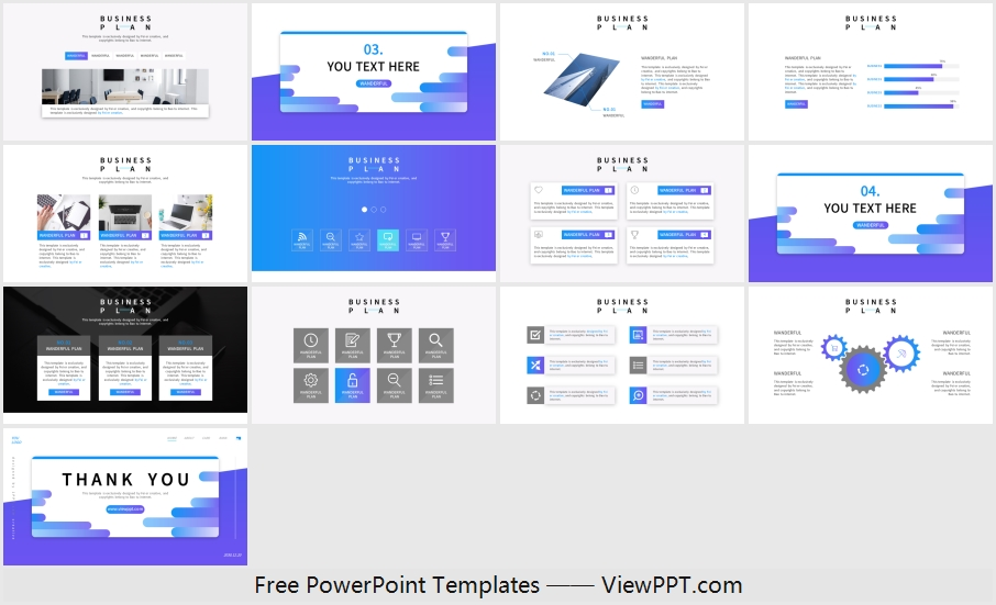 Fashion blue business PowerPoint Templates